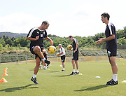 Dundee captain Kevin Thomson and Julen Etxabeguren at Dundee pre-season training at GLOBALL Football Park, Budapest, Hungary<br /> <br />  - &copy; David Young - www.davidyoungphoto.co.uk - email: davidyoungphoto@gmail.com