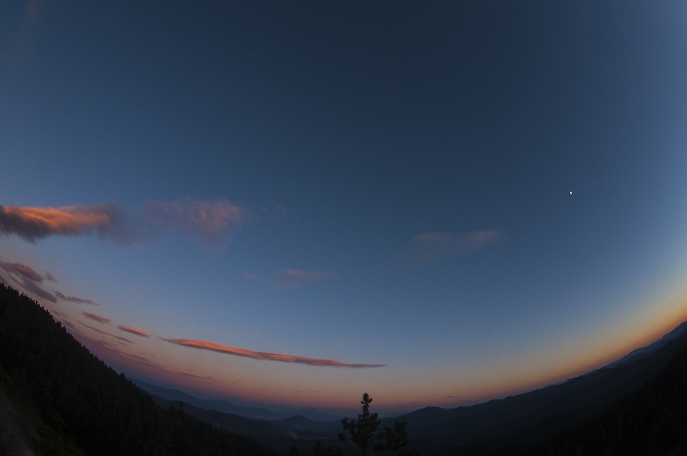 Sunset Clouds Over Mt. Ashland, Rogue River–Siskiyou National Forest, Oregon, US