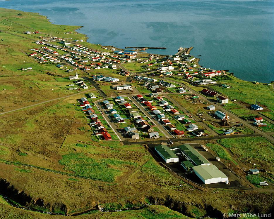 Hvammstangi séð til suðurs, Húnaþing vestra / Hvammstangi viewing south, Hunathing vestra.