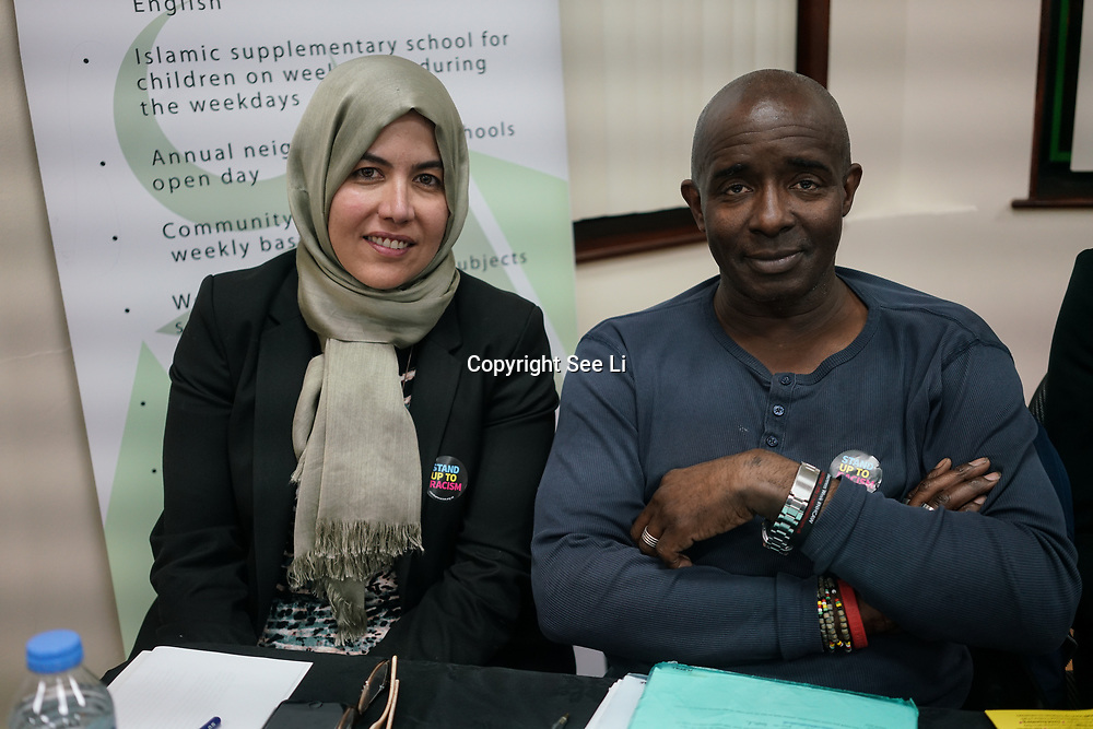 London, Uk. 15th October 2017. Ragad Altikriti – Member of the Shoora Council, Muslim Association of Britain and Collin Adams – Islington Hate Crime Forum join the discussion Hate Crime Against Muslim Women.