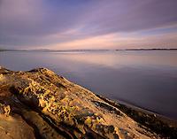 Sunset over Samish Bay from Larrabee State Park Washington USA