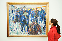 Workers Coming Home by Edvard Munch at Statens Museum for Kunst or Royal Museum of Fine Arts in Copenhagen Denmark