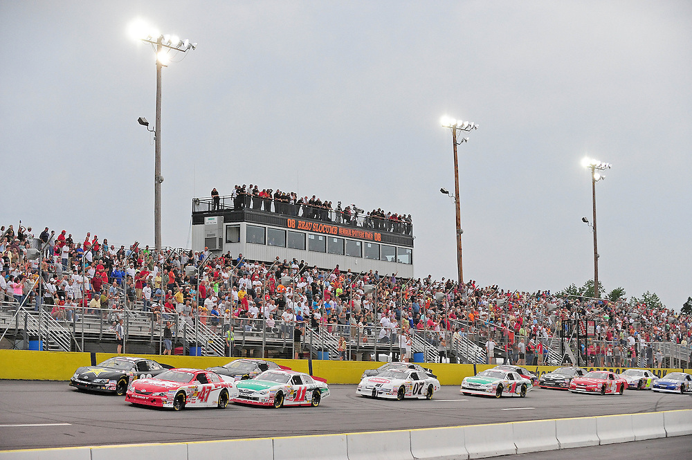 JEFFERSON, GA - JUNE 9, 2012: Drivers start the NASCAR K&N Pro Series East Slack Auto Parts 150 held at Gresham Motorsports Park in Jeffereson, GA on June 9, 2012. Photo by Kevin Liles/kevindliles.com