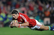 James Hook of the British&Irish Lions, dives over for his try against the Xerox Lions.<br /> Rugby - 090602 - British&Irish Lions v Xerox Lions - Coca-Cola Park - Johannesburg - South Africa.<br /> Photographer : Anton de Villiers / SASPA
