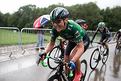 Lisa Brennauer (GER) of WNT Rotor Pro Cycling climbs on the final ascent of Stage 4 of 2019 OVO Women's Tour, a 158.9 km road race from Warwick to Burton Dassett, United Kingdom on June 13, 2019. Photo by Balint Hamvas/velofocus.com
