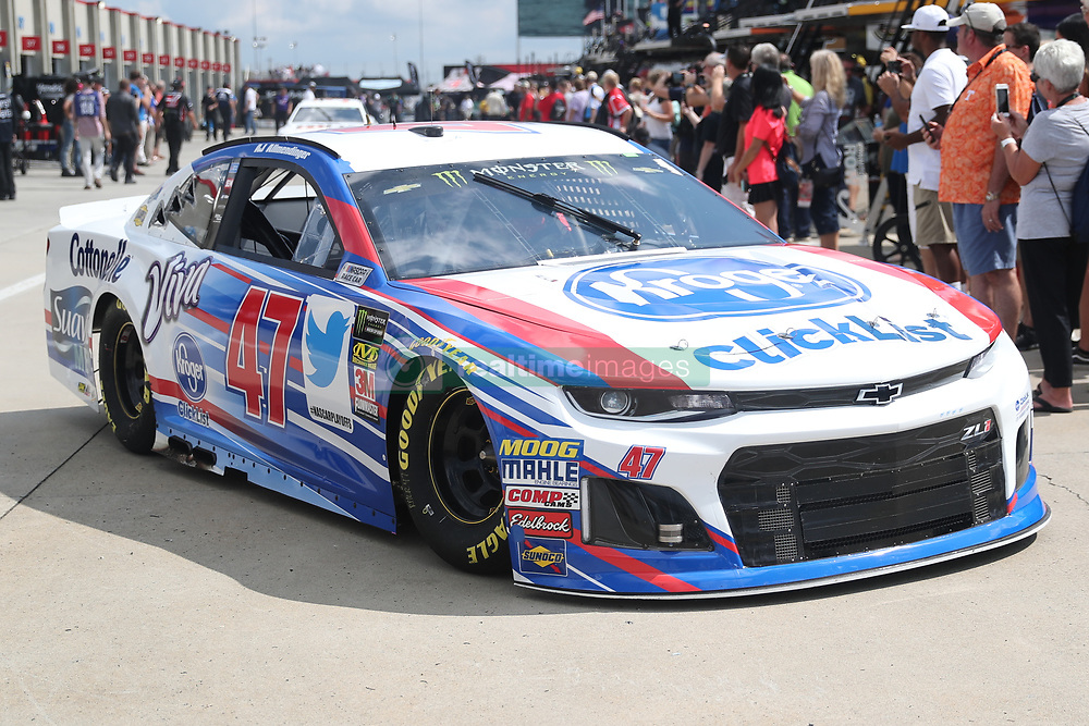 September 29, 2018 - Charlotte, NC, U.S. - CHARLOTTE, NC - SEPTEMBER 29: #47: A.J. Allmendinger, JTG Daugherty Racing, Chevrolet Camaro Kroger ClickList leaving the garages during the Monster Energy NASCAR Cup Series Playoff Race Bank of America ROVAL 400 on September 29, 2018, at Charlotte Motor Speedway in Concord, NC. (Photo by Jaylynn Nash/Icon Sportswire) (Credit Image: © Jaylynn Nash/Icon SMI via ZUMA Press)