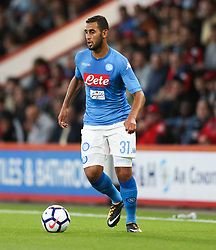 Napoli's Faouzi Ghoulam during the pre-season friendly at the Vitality Stadium, Bournemouth.