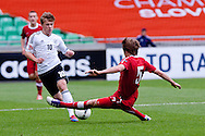 Maximilian Meyer of Germany vs Igor Lasicki of Poland during the UEFA European Under-17 Championship Group A semifinal match between Germany and Poland on May 13, 2012 in SRC Stozice, Ljubljana, Slovenia. Germany defeated Poland 1:0. (Photo by Matic Klansek Velej / Sportida.com)