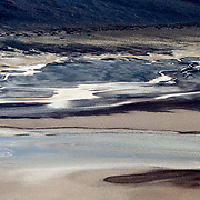 The abstract colors of Death Valley National Park in California.