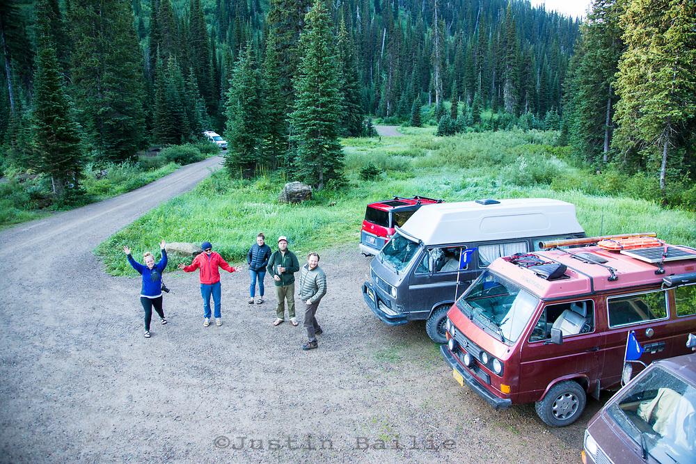 Van camping. Montana.