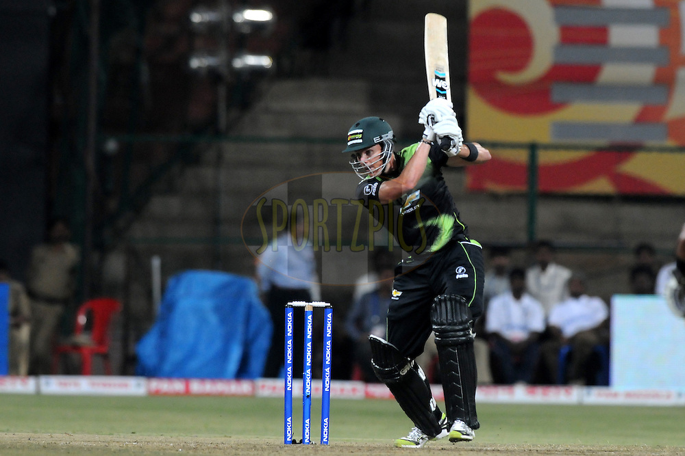 Johan Botha of Warriors bats during match 1 of the NOKIA Champions League T20 ( CLT20 )between the Royal Challengers Bangalore and the Warriors held at the  M.Chinnaswamy Stadium in Bangalore , Karnataka, India on the 23rd September 2011..Photo by Pal Pillai/BCCI/SPORTZPICS