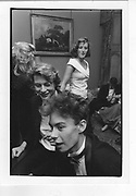 James Lloyd; James McDiarmid; Leonie Jellett. Lisnavargh party. Ireland. 29 July 1988.  *** Local Caption *** -DO NOT ARCHIVE-© Copyright Photograph by Dafydd Jones 66 Stockwell Park Rd. London SW9 0DA Tel 020 7733 0108 www.dafjones.com