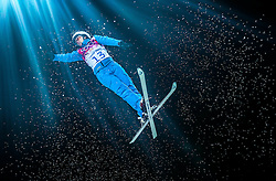Gold medal winner Alla Tsuper of Belarus in action during the Women's Aerials at the Sochi 2014 Olympic Games, Krasnaya Polyana, Russia, 14 February 2014.