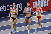 Adelle Tracey (Great Britain), 800m Women's Heat, during the European Athletics Indoor Championships 2019 at Emirates Arena, Glasgow, United Kingdom on 1 March 2019.