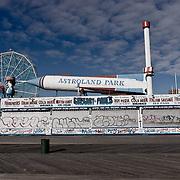 Astroland Park closed. Coney Island. Brooklyn Beach in winter