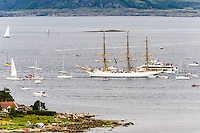 Norway, Randaberg. Tall Ships Race in Stavanger 2011. Goodbye, fare thee well! SS Sørlandet.
