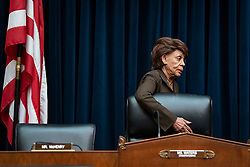Representative Maxine Waters, Chairwoman of the House Financial Services Committee, D-N.Y., arrivers before chairing a hearing for Federal Reserve Board Chairman Jerome Powell to testify before the House Financial Services Committee on Capitol Hill in Washington, D.C. on Wednesday, July 10, 2019. Lawmakers questioned Powell on a variety of topic related to U.S. monetary policy and the state of the U.S. economy. Photo by Alex Edelman/UPI