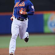 Michael Cuddyer, New York Mets, runs the bases after hitting a home run during the New York Mets Vs Arizona Diamondbacks MLB regular season baseball game at Citi Field, Queens, New York. USA. 10Th July 2015. Photo Tim Clayton