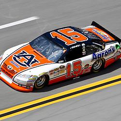 April 16, 2011; Talladega, AL, USA; NASCAR Sprint Cup Series driver Michael Waltrip (15) during qualifying for the Aarons 499 at Talladega Superspeedway.   Mandatory Credit: Derick E. Hingle