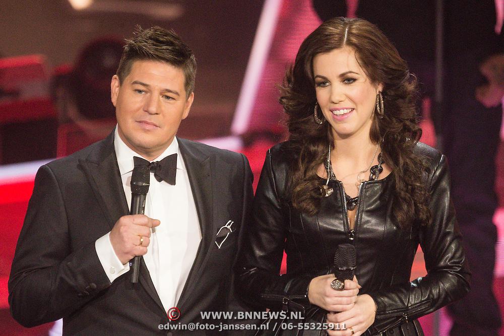 NLD/Hilversum/20131220 - Finale The Voice of Holland 2013, Gerrie Dantuma en Martijn Krabbe