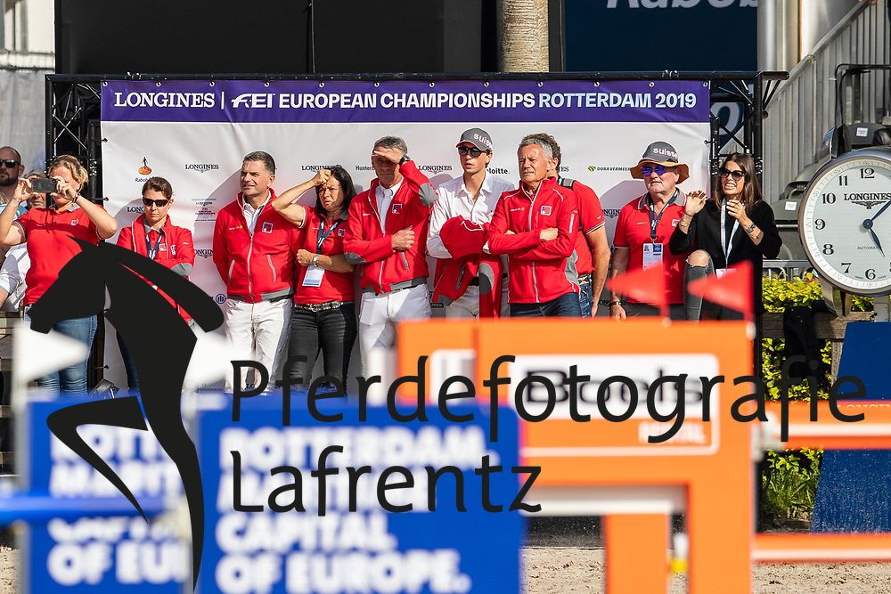 Guerdat Steve, SUI, Bianca<br /> Rotterdam - Europameisterschaft Dressur, Springen und Para-Dressur 2019<br /> Longines FEI Jumping European Championship - 1st part - speed competition against the clock<br /> 1. Runde Zeitspringen<br /> 21. August 2019<br /> © www.sportfotos-lafrentz.de/Dirk Caremans