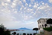 View of the bay of Naples and Mt. Vesuvius from Posillipo hill.