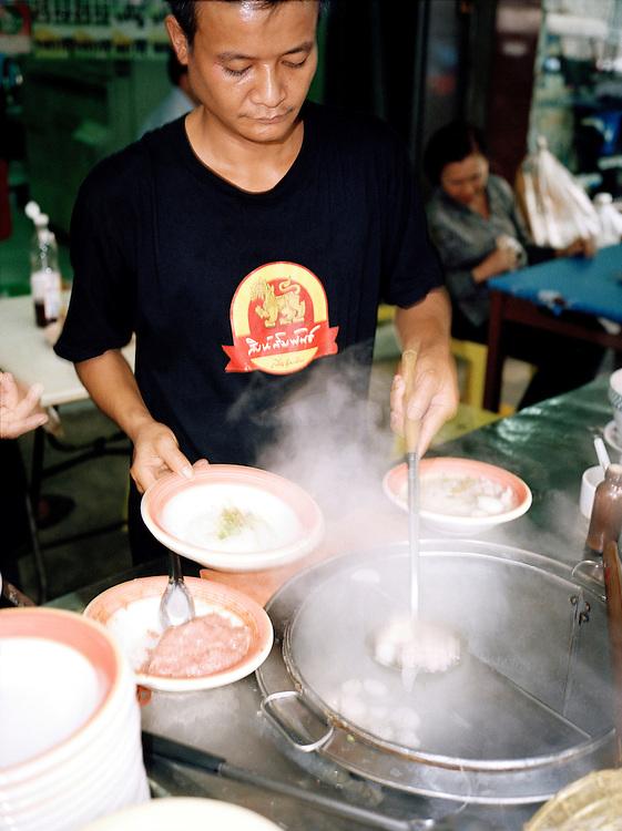 Selling noodle soup