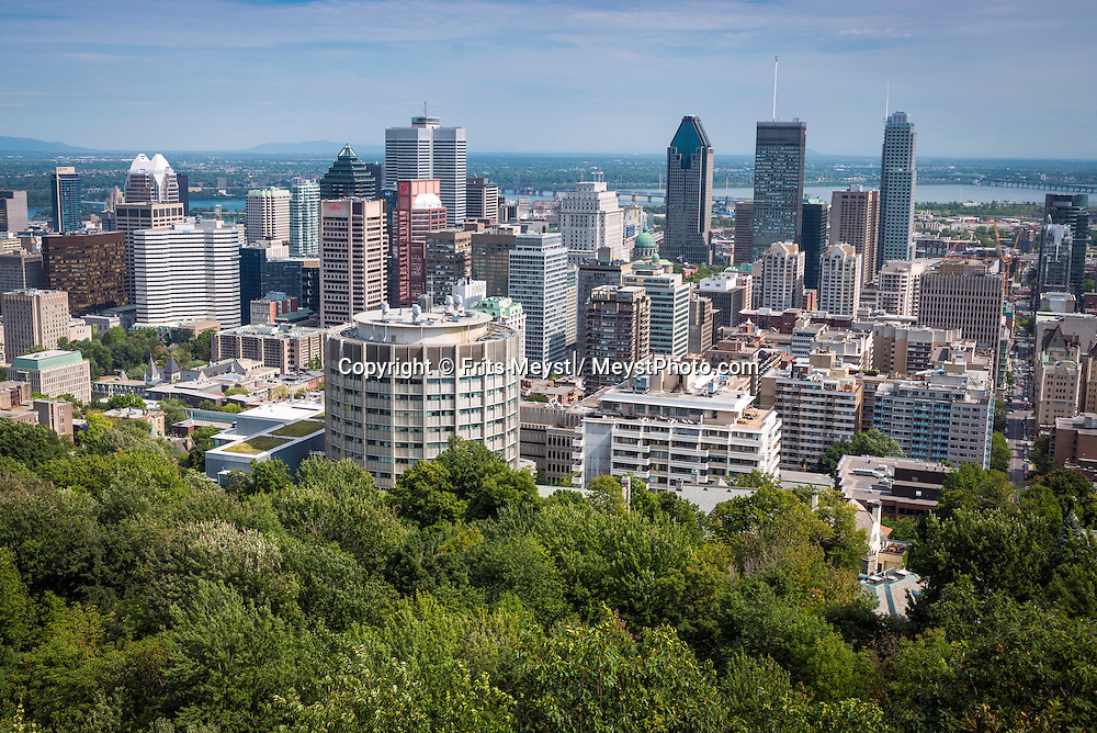 Montreal, Quebec, Canada, August 2014. Montreal is the metropolis of the province of Quebec and its cultural capital. Quebec province is unique among North American tourist destinations. Its French heritage does not only set the province apart from most of its English speaking neighbors, it is also one of the few historical areas in North America to have fully preserved its Francophone culture. Its European feel and its history, culture and warmth have made Quebec a favourite tourist destination both nationally and internationally. Photo by Frits Meyst / MeystPhoto.com