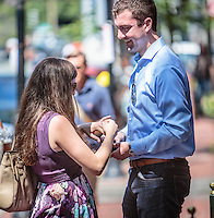 Stefan proposes to Colleen on the street in Boston's Beacon Hill