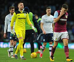 Robert Snodgrass of Aston Villa looks dejected - Mandatory by-line: Nizaam Jones/JMP - 20/02/2018 - FOOTBALL - Villa Park - Birmingham, England - Aston Villa v Preston North End- Sky Bet Championship