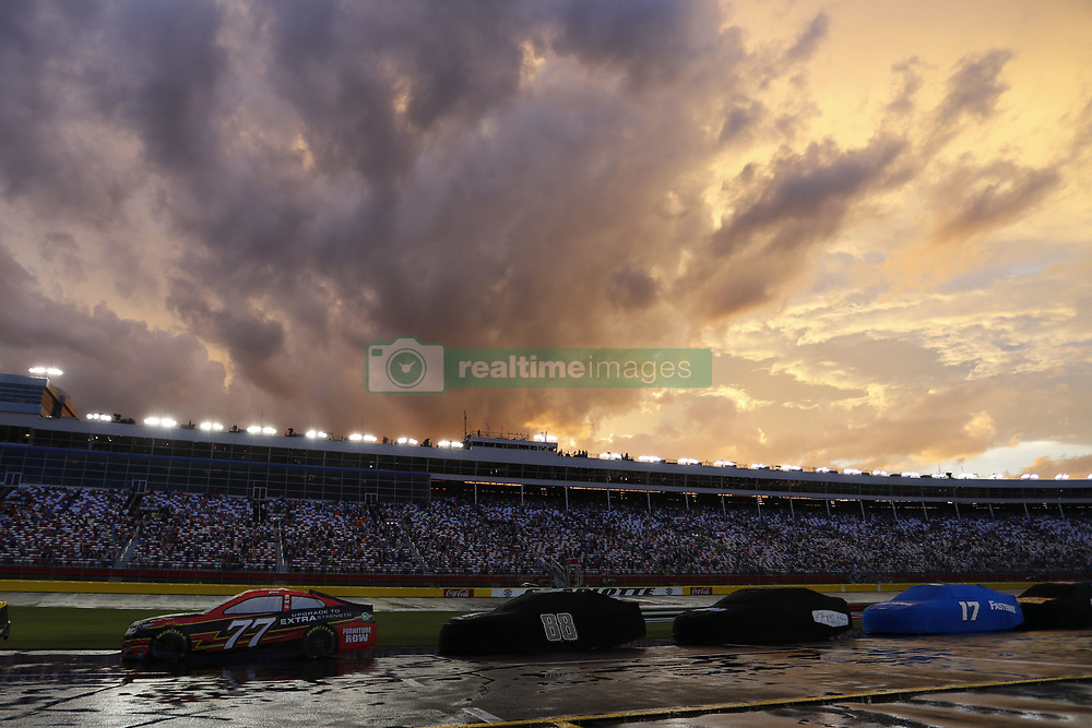 May 28, 2017 - Concord, NC, United States of America - May 28, 2017 - Concord, NC, USA: Heavy rain puts a hold on the Coca Cola 600 at Charlotte Motor Speedway in Concord, NC. (Credit Image: © Justin R. Noe Asp Inc/ASP via ZUMA Wire)