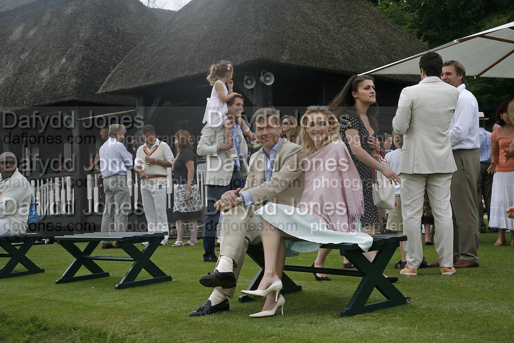 AGNIESZA SZELUK, CHARLIE BUTLER , Guy Leymarie and Tara Getty host The De Beers Cricket Match. The Lashings Team versus the Old English team. Wormsley. ONE TIME USE ONLY - DO NOT ARCHIVE  © Copyright Photograph by Dafydd Jones 66 Stockwell Park Rd. London SW9 0DA Tel 020 7733 0108 www.dafjones.com