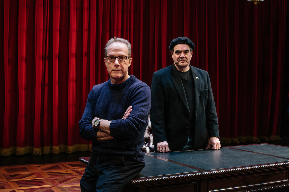 Playwright John Strand and lead actor Edward Gero of the play Originalist is on the Arlene and Robert Kogod Cradle Theater at the Mead Center for American Theater in Washington, D.C. now through April 26.