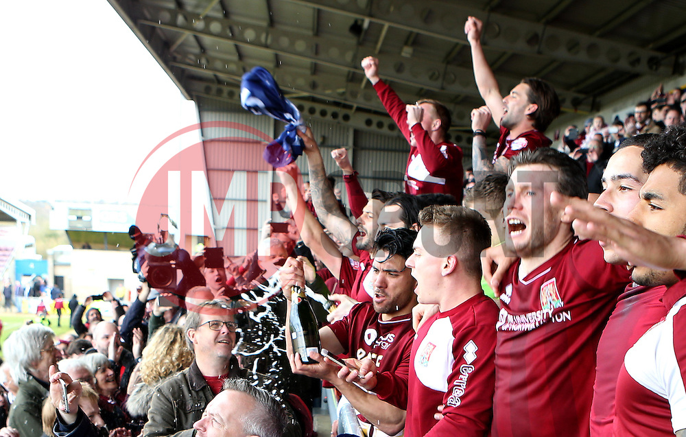 Northampton Town celebrate winning promotion to League One - Mandatory by-line: Robbie Stephenson/JMP - 09/04/2016 - FOOTBALL - Sixfields Stadium - Northampton, England - Northampton Town v Bristol Rovers - Sky Bet League Two