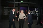 SIR NICHOLAS SEROTA VICTORIA GLEADOWE, The Tanks at Tate Modern, opening. Tate Modern, Bankside, London, 16 July 2012