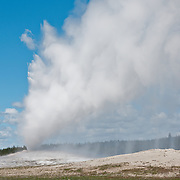 Old Faithful Geyser in Yellowstone National Park, Wyoming.  Photo by William Byrne Drumm.