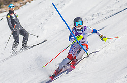16# Finnbogadottir Maria from Iceland during the slalom of National Championship of Slovenia 2019, on March 24, 2019, on Krvavec, Slovenia. Photo by Urban Meglic / Sportida
