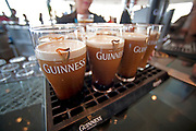 Fresh Guinness Beer awaits customers at the end ofthe tour at the Guinness Brewery in Dublin, Ireland