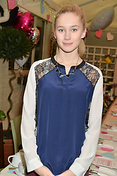 MOLLY JENNINGS at a ladies Valentine's Breakfast to launch the new healthy food menu at royal favourite restaurant Bumpkin, 119 Sydney Street, London on 14th February 2014.