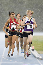 \ competing in the women's distance medley relay at the 2007 OTFA Junior-Senior Championships in Ottawa.
