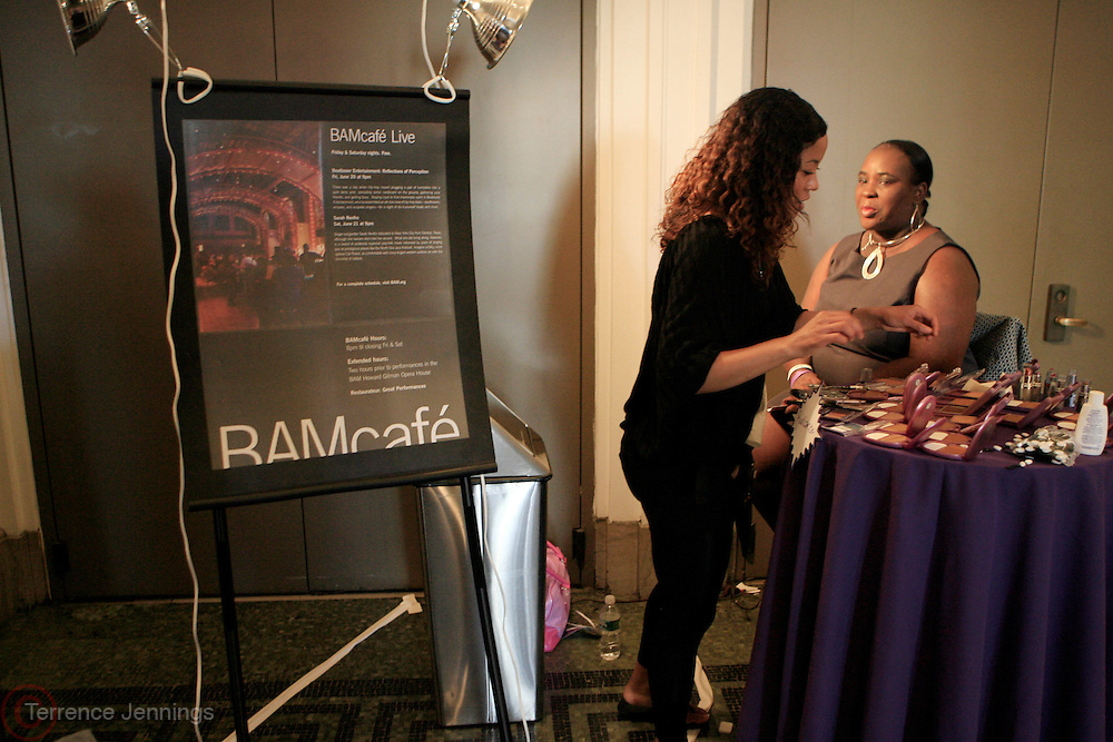 "Atmosphere at Cover Girl and Rolling Out Urbanstyle Weekly host "" Creative Success"" The Female Success Factor, an entrepreneurship seminar designed for women held at Brooklyn Academy of Music(BAM) on June 21, 2008..In collaboration with CoverGirl Queen Collection, Female Success Factor will highlight winners of the Every Woman is a Queen online model casting call."