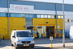 HiLine Cash and Carry on Purley Way whose Manager was left in a critical condition after suffering heart failure as he tried to wrestle with ram-robbers to save the takings they were after on Mitcham Road at the corner of Sumner Road, Croydon on Wednesday 12th September. September 13 2018.