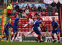 Photo: Rich Eaton.<br /> <br /> Bristol City v Crewe Alexander. Coca Cola League 1. 14/10/2006. Scott Murray #7 scores the first goal of the game for Bristol City