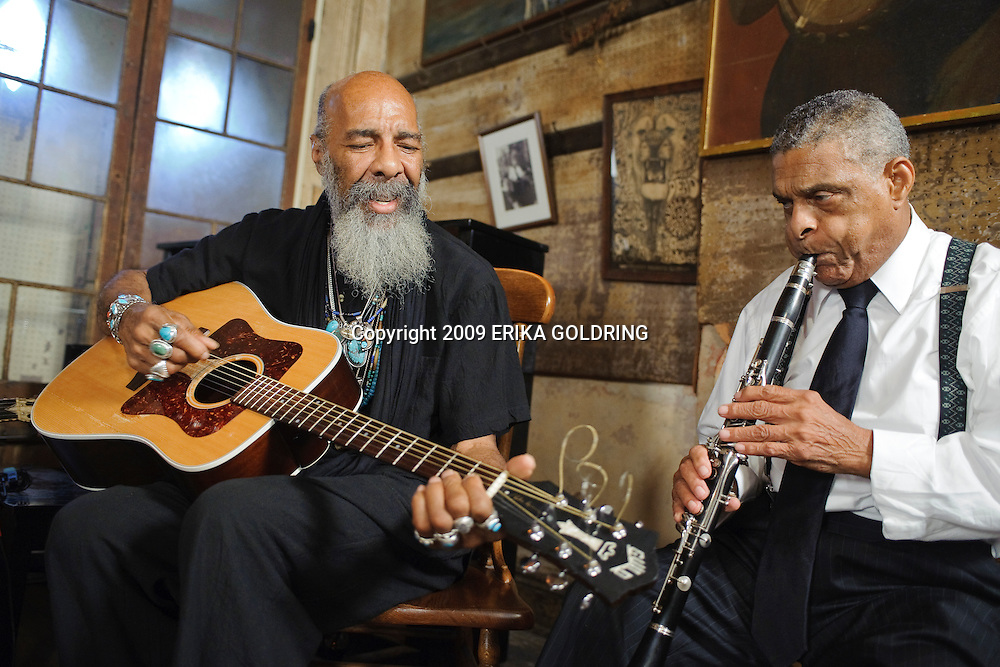 Richie Havens and Charlie Gabriel perform August 31, 2009, at Preservation Hall in New Olreans, LA, for the Preservation CD. © Erika Goldring - All Rights Reserved.