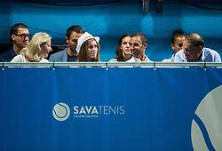 Kaja Juvan, Aljaz Kos and Marko Umberger  during Final match of ATP Challenger Zavarovalnica Sava Slovenia Open 2017, on August 12, 2017 in Sports centre, Portoroz/Portorose, Slovenia. Photo by Vid Ponikvar / Sportida