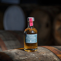 Bottle of a test release of the McHenry Distillery's first house-made singlt malt whisky at McHenry Distillery in Port Arthur, Tasmania, August 25, 2015. Gary He/DRAMBOX MEDIA LIBRARY