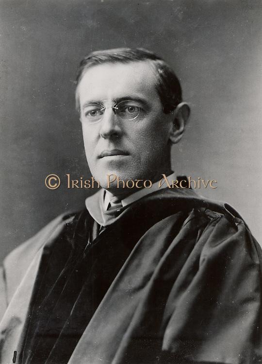Thomas Woodrow Wilson ((1856-1924) 28th President of the USA 1913-1921. Wilson in 1903 when President of Princeton University.  Photograph. American Politician Democrat