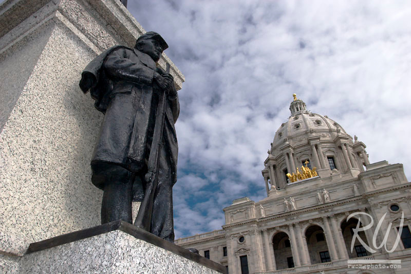 Knute Nelson Civil War Soldier Statue in front of Minnesota State Capitol, Saint Paul, Minnesota