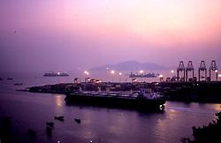 Shenzhen Port of Yantian, China,shipping, South China Sea, evening