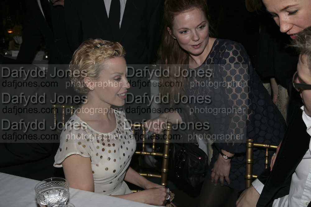 Kylie Minogue and Gerri Halliwell,  Charles Finch and Chanel 7th Anniversary Pre-Bafta party to celebratew A Great Year of Film and Fashiont at Annabel's. Berkeley Sq. London W1. 10 February 2007. -DO NOT ARCHIVE-© Copyright Photograph by Dafydd Jones. 248 Clapham Rd. London SW9 0PZ. Tel 0207 820 0771. www.dafjones.com.